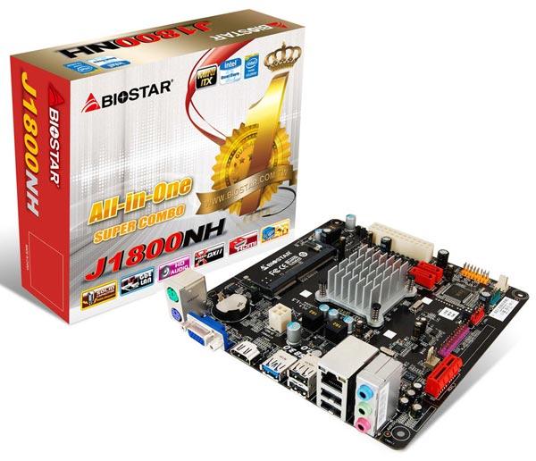 На плате Biostar J1800N Ver 6.x установлен процессор Intel Celeron J1800