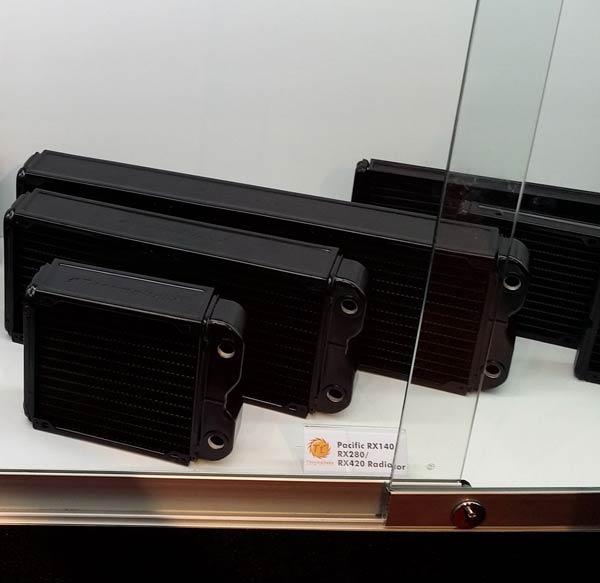 Радиаторы Pacific RX140, RX280 и RX420 рассчитаны на установку вентиляторов типоразмера 140 мм