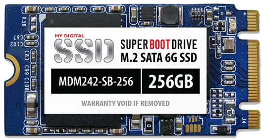 Объем твердотельных накопителей MyDigitalSSD Super Boot типоразмера M.2 2242 достиг 256 ГБ