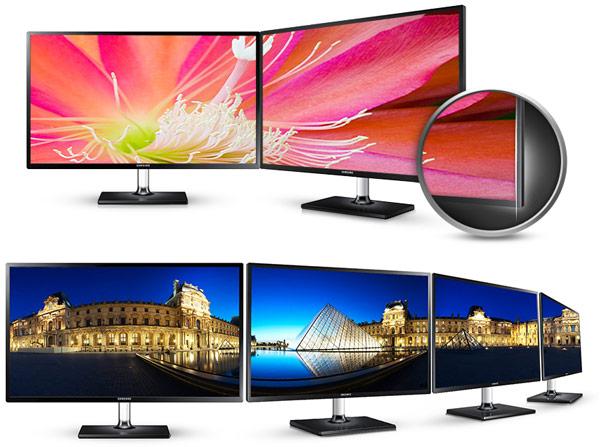 Подставка монитора Samsung S27C590H позволяет регулировать только угол наклона экрана
