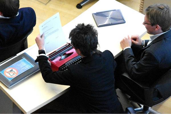 В немецком парламенте запретили ноутбуки, депутат Пиратской партии пришёл с печатной машинкой
