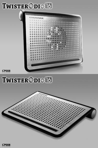 Ассортимент Enermax пополнила охлаждающая подставка для ноутбуков Twistedrodio 16