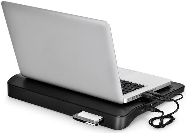 Подставка Deepcool N25 рассчитана на ноутбуки с экранами размером до 17 дюймов по диагонали
