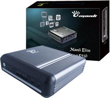 В развлекательном неттопе Manli Elite AE210 используется APU AMD E2-1800