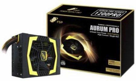 Напряжение 12 В формируется в блоках питания FSP Aurum PRO на единственной шине