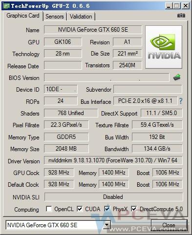 GTX 660 SE