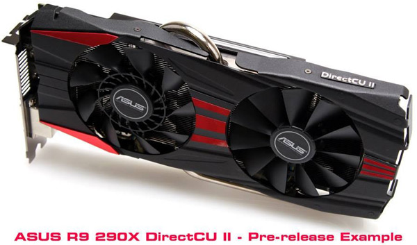 3D-карта Asus Radeon R9 290X DirectCU II будет отличаться от референсного образца 3D-карты Radeon R9 290X