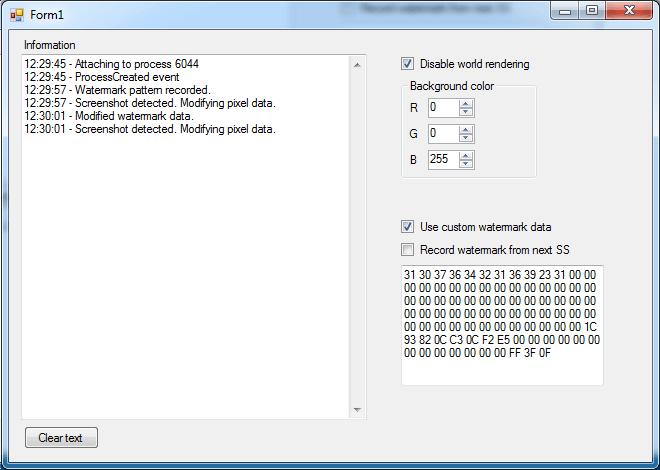 В скриншотах игры WoW обнаружены цифровые водяные знаки (userID, time, realm)