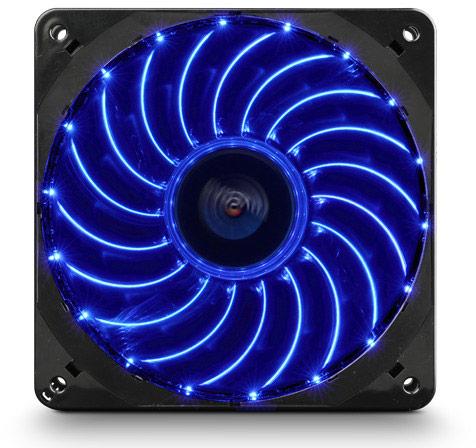 Скорость вращения вентиляторов Enermax T.B.Vegas Single регулируется с помощью ШИМ