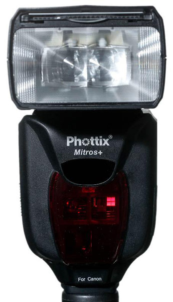 Ведущее число вспышки Phottix Mitros+ равно 58