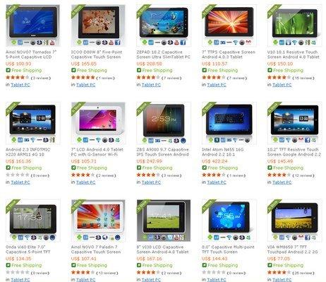 Выбор китайского планшета