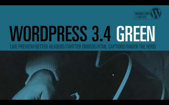 Выпущен WordPress 3.4 Green