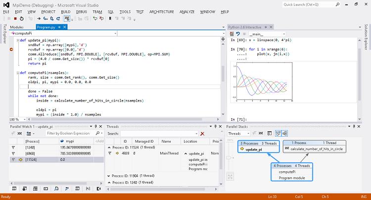 Выпущена новая версия Python Tools for Visual Studio 2.0