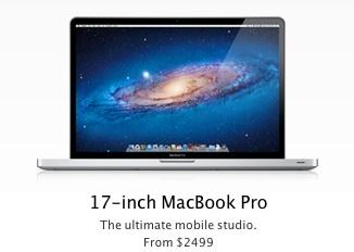 Выпуск 17-дюймовой модели MacBook Pro может быть прекращен из-за падения спроса