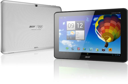 Выпуск планшета Acer Iconia A510 Olympic Tab посвящен летним Олимпийским играм 2012