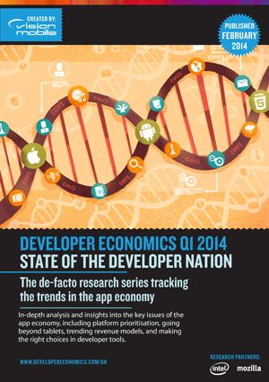 Вышел шестой отчет Developer Economics за первый квартал 2014 года