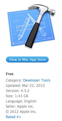 Вышла версия Xcode 4.3.2
