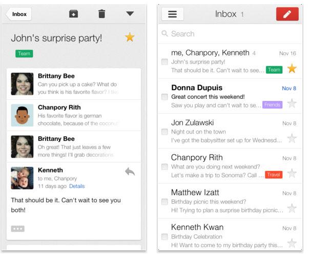 Вышла вторая версия Gmail для iOS, теперь с поддержкой нескольких акаунтов