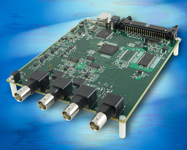 Плата Measurement Computing USB-2020 позволяет вводить данные со скоростью до 20 млн. отсчетов в секунду