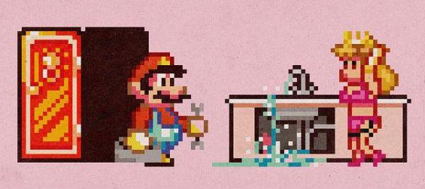 За кадром — Media Query Mario