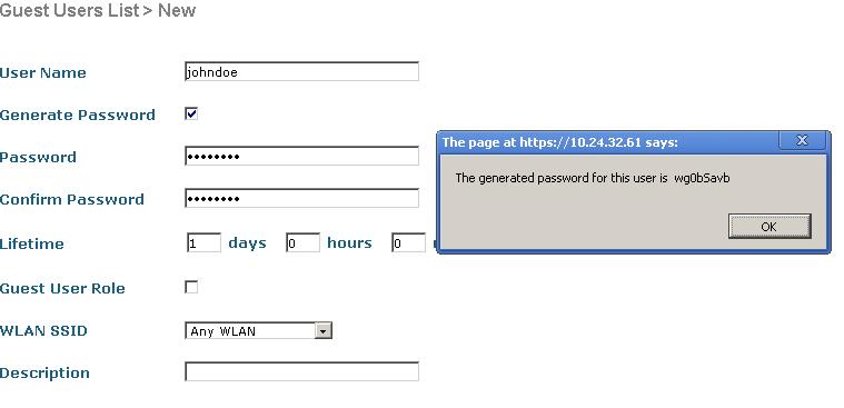 Замена стандартного Lobby Admin Cisco Wireless LAN Controller 5500/2500
