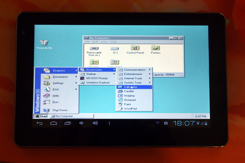 Запуск Windows 95/98/XP на ARM устройствах на базе Android