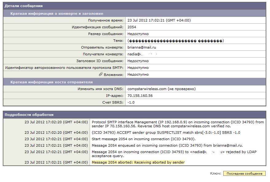 Защищаемся от спама с помощью IronPort c170
