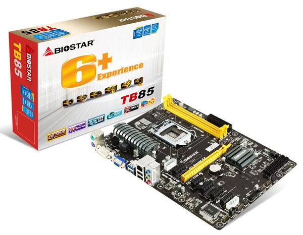 На плате Biostar TB85 можно обнаружить два слота для модулей DIMM