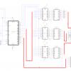 Прототип светодиодного табло на 262 144 комбинации цветов и 64 пикселя