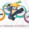 Показатели эффективности: KVM vs. Xen