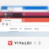 Финальный релиз Vivaldi 1.3