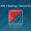 Adobe AIR + Starling + растеризация векторной графики