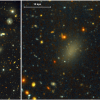 Призрачная галактика на 99.99% состоит из тёмной материи и почти не содержит звёзд