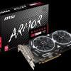 Компания MSI предложила еще четыре варианта видеокарты Radeon RX 480 в рамках серии Armor