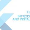 Flutter I — Введение и установка