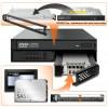 C помощью Icy Dock MB994IPO-3SB в отсеке типоразмера 5,25 дюйма можно разместить оптический привод и два накопителя типоразмера 2,5 дюйма
