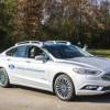 Самоуправляемый гибрид Ford Fusion внешне мало отличается от обычных автомобилей