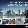 В семейство Microchip PIC18F K42 вошли восьмиразрядные микроконтроллеры с независимыми периферийными блоками