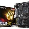 Системная плата Gigabyte GA-A320M-HD2 с процессорным гнездом AM4 выполнена в типоразмере mATX