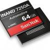 Встраиваемый твердотельный накопитель SanDisk iNAND 7250A предназначен для автомобильной электроники