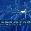 Механизм подсчета нейронной сети в PL-SQL для распознавания рукописных цифр