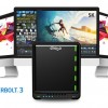 Хранилище Drobo 5D3 оснащено интерфейсом Thunderbolt 3