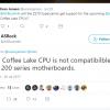 Для процессоров Coffee Lake, возможно, потребуются новые материнские платы
