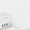 Устройство Dodocool DC32 оснащено тремя розетками, тремя портами USB-A и разъемом USB-C, поддерживающим 30-ваттную зарядку