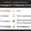 42 дня до блокировки Телеграмма