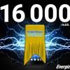 Емкость аккумулятора смартфона Energizer Power Max P16K Pro равна 16000 мА∙ч
