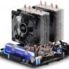 Процессорный охладитель DeepCool Frostwin LED оснащается двумя вентиляторами диаметром 92 мм