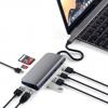 Адаптер Satechi Aluminum Type-C Multimedia Adapter предлагает девять дополнительных разъёмов и стоит 100 долларов