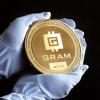 В Златоусте выпустили 10-сантиметровую монету с изображением криптовалюты Gram