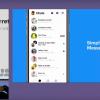 Facebook меняет дизайн приложения Messenger
